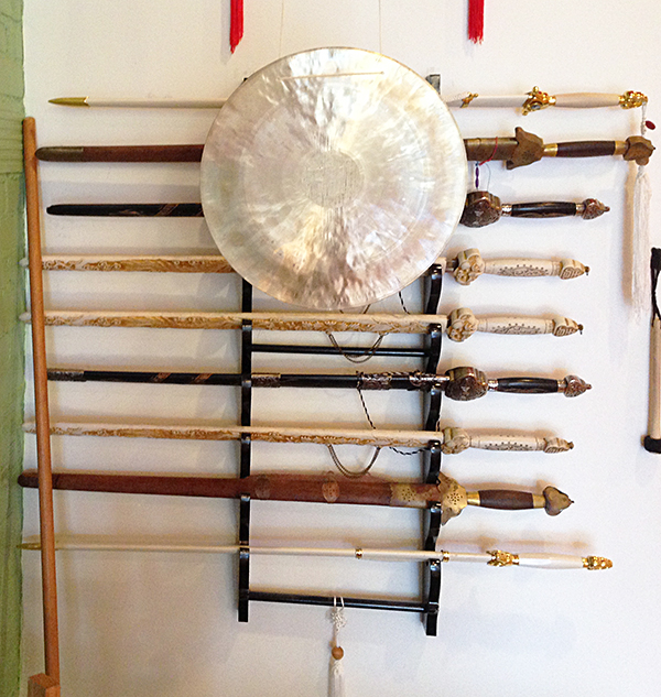 Gong and Sword Rack