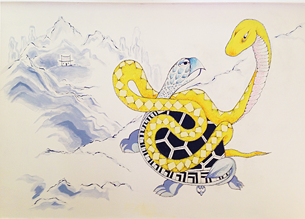Snake and Tortoise Mural